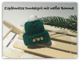"""WinterHundeHaarSpange """" Süße Strickmütze mit 3 Strasssteinchen """""""