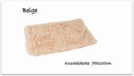 """Kuscheldecke """" super  flauschig """" beige """""""