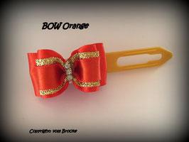 """Schleife """" Classic Bow  Orange  mit Goldstreifen """""""