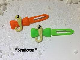 """HundehaarSpange Meer  """" Seepferdchen gelb / Seehorse """""""