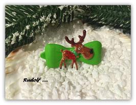 """WeihnachtsMotiv HundeHaarSpange """" Rudolf  """""""