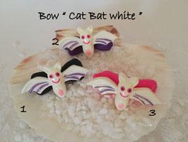 "Bunte Halloween HundehaarSpangen "" Nr  14 CAT BAT White"""