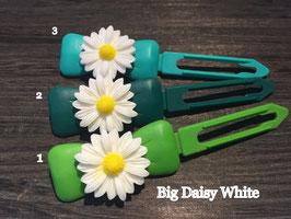 "Hundehaarspange  Blume "" Big Daisy Weiß Nr. 8"