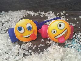 "SonderEmotion / Smiley HundeHaarSpange  "" MAXIME KO ! """