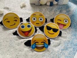 """Emotion / Smiley HundeHaarSpange  """" 6er Set 5 """""""