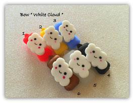 "HundeHaarSpange Auf Wolke 7 "" White Cloud """