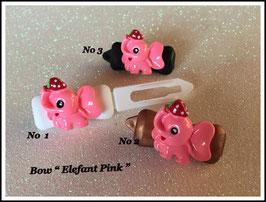 """HundeHaarSpange """" Elefant  pink """""""