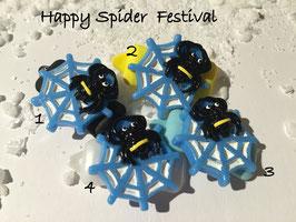 """Halloween Spinnen/Spider """" Spinne  mit Netz blau   """""""