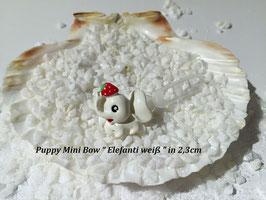"HundeHaarSpange Mini Puppy Bow   "" Elefanti weiß """