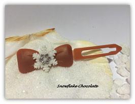 "Sonderfarben : Hunde HaarSpange Schneeflocke "" Snowflake Chocolate   """
