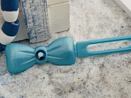 "Kunststoff HundehaarSpange/ SWK  "" Glamour American Butterfly  Dog Bow Nr 1 Türkis """