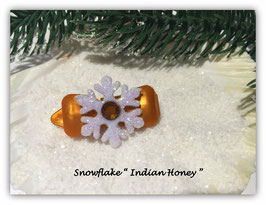 "HundehaarSpange  "" Snowflake Indian Honey mit SWK  """