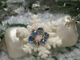 """Snowflake """" White Glamour """" Rainbow  """" mit Swarovski Elemente"""