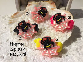 """Halloween Spinnen/Spider """" Spinne  mit Netz rosa   """""""