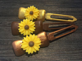 "Hundehaarspange  Blume "" Big Daisy Gelb Nr.1  """