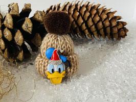 Wintermützchen mit Donald und Mützchen mit Rhinestone Haselnuss