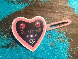 "MotivSpange "" Oktoberfest Zuckermadl  Rosa mit SWK  """