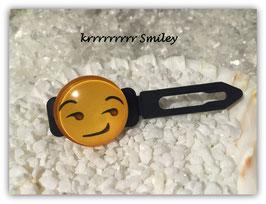 """Emotion / Smiley HundeHaarSpange  """" krrrrrrrr Smiley """""""
