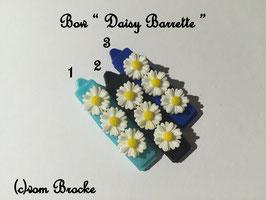 HundeHaarSpange Blume 3 blau/schwarz Ton  Nr. 15 French Daisy(3) Barrette