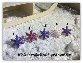 """WelpenHundehaarSpange Schneeflocke """"   Winterwonderland Puppy Snowflake"""