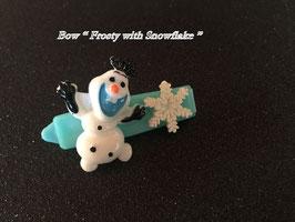 """HundeHaarSpange  """" Frosty mit Schneeflocke """""""