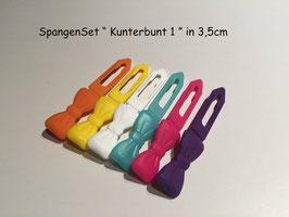 Spangen Set / Farbwechsler Set 3,5cm Kunterbunt 1 3,5cm