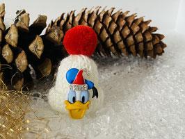 Wintermützchen mit Donald und Mützchen mit Rhinestone Weiß