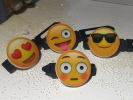 Balken Hundehaarspange  Smiley/Emotion:  Nr. 3 Schwarze Sonnenbrille