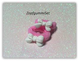 Zopfgummi Set Scheifchen weiß