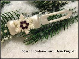 """Snowflake """" White Glamour """" Dark Purple"""" mit Swarovski Elemente"""
