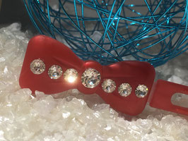 "Kunststoff HundehaarSpange/ SWK "" Glamour American Butterfly Dog Bows Schwarz 7 SWK Kristall Nr.   8 """