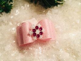 """Schneeflocken Schleife """" Rosa Nr. 4"""