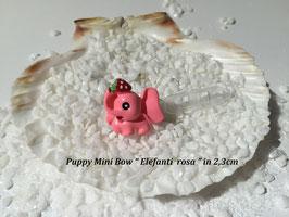 "HundeHaarSpange Mini Puppy Bow   "" Elefanti rosa """