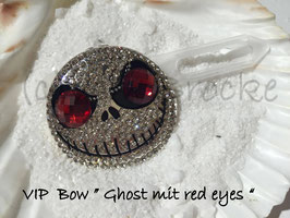 "Highlight Spange Halloween 5 "" Ghost with red eyes  """