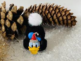 Wintermützchen mit Donald und Mützchen mit Rhinestone  Schwarz