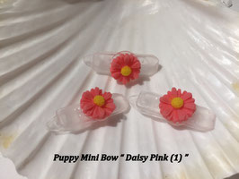 "HundeHaarSpange Mini Puppy Bow   "" Daisy Pink (1) """