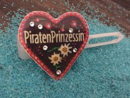 "MotivSpange "" Oktoberfest Piraten Prinzessin  Rot  mit SWK Kristall """