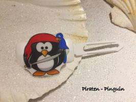 "HundehaarSpange "" Piraten-Pinguin """