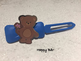 """HundeHaarspange Bärchen """" Happy Bär """""""