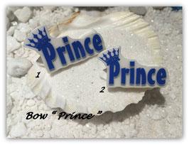 """HundeMotivHaarSpange  """" Prince mit Krone blau mit und ohne SWK """""""