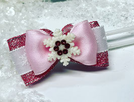 SchneeflockenSchleife rosa 3