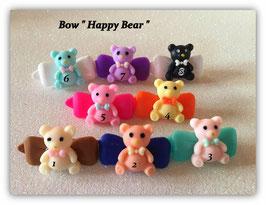 "Bunte Bären HundehaarSpange "" Happy  Bear """
