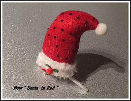 "HundehaarSpange Zipfelmütze "" Santa Hat  Red """