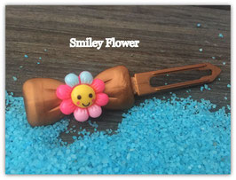"HundehaarSpange Sonne   "" Smiley Flower Nr . 7 """
