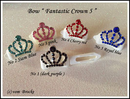 "HundeHaarSpange mit MetallApplikation  "" Fantastic Crown 5 """