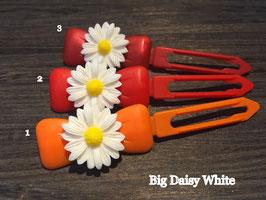 "Hundehaarspange  Blume "" Big Daisy Weiß Nr. 7"
