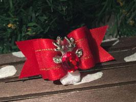 """WeihnachtsSchleife """" Rentierkopf ROT Nr. 1  """""""