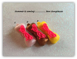 "Hundehaarspange  "" Sonnenbrille  Crazy Pink """