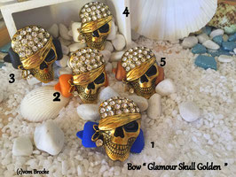 "SKULL Highlight  "" Glamour Skull Golden """