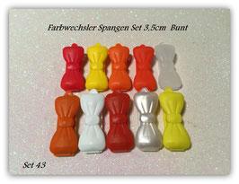 Spangen Set / Farbwechsler Set 3,5cm Nr. 43